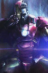 Iron Man Sitting On Throne