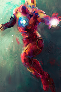 1242x2688 Iron Man Sketch Art 4k