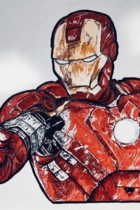 720x1280 Iron Man Sketch Fan Art