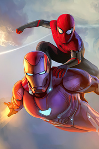 Iron Man Spider Man Come Together