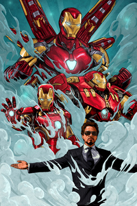 Iron Man Suit Art