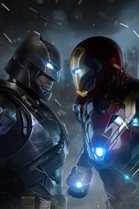 Iron Man V Bat Man 4k