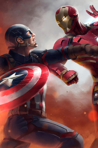 Iron Man Vs Captain America 4k