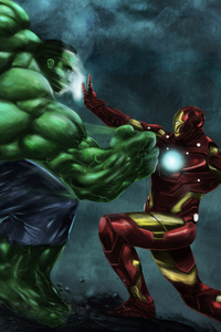 Iron Man Vs Hulk Art
