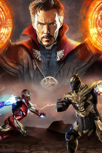 480x854 Iron Man Vs Thanos Avengers Endgame