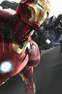 Iron Man War Machine Art