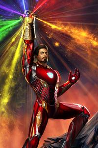 Iron Man Wielding Infinity Gauntlet