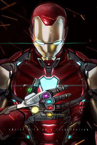 Iron Man With Infinity Gauntlet