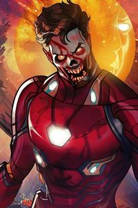 640x960 Iron Man X Zombie What If