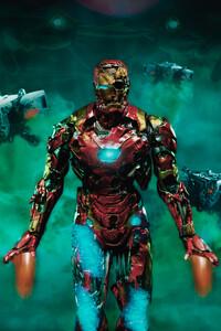 320x568 Iron Man Zombie 4k