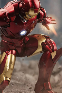 480x800 Iron Man4k Down