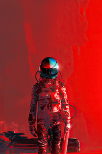 Iron Red Scifi 4k