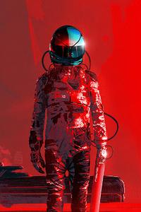 320x568 Iron Scifi Astronaut 4k
