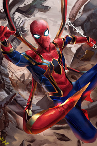Iron Spider Suit In Avengers Infinity War