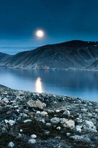 Island Mountain Rocks Reflection Night 5k