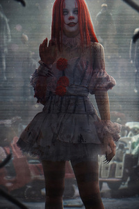 320x480 It Clown Girl 4k
