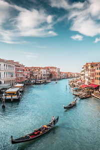 1440x2560 Italy Boats Venice Canal 5k