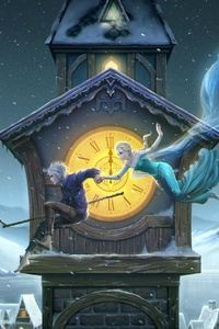 Jack And Elsa The Frost Couple Artwork