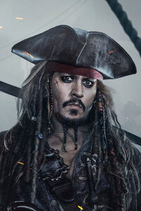 Jack Sparrow In Pirates Of The Caribbean Dead Men Tell No Tales 4k