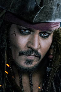 1080x2160 Jack Sparrow Pirates Of The Caribbean Dead Men Tell No Tales 4k