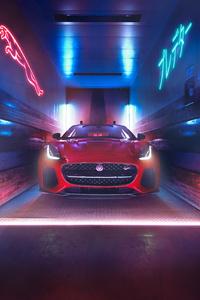 Jaguar F Type 2018 Front View 4k