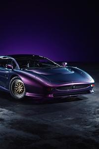 1440x2960 Jaguar XJ220 Purple 4k