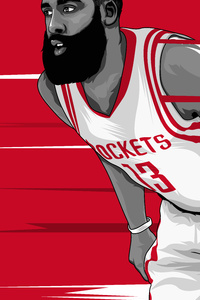 640x960 James Harden Artwork