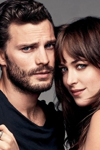1440x2960 Jamie Dornan And Dakota Johnson