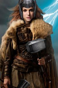 1080x2160 Jane Foster Viking Thor