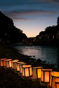 240x320 Japan Light Lantern 4k