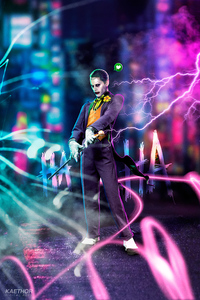 Jared Leto Joker Cyberpunk Art 4k