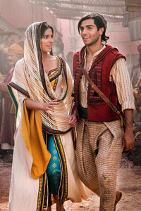 2160x3840 Jasmine And Aladdin In Aladdin Movie 2019