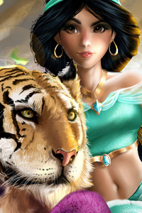Jasmine And Rajah 4k Art