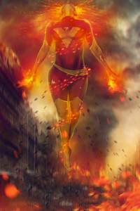 Jean Grey In Xmen Dark Phoenix Art