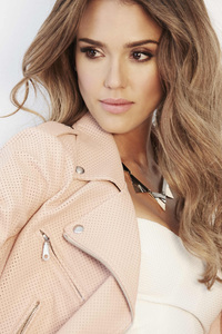Jessica Alba Face Portrait 4k