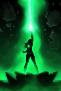 1080x2160 Jessica Cruz Green Lantern 5k
