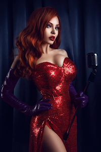 540x960 Jessica Rabbit Cosplay 4k