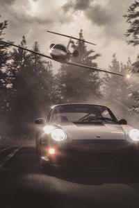 1125x2436 Jet Chasing Porsche