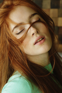 Jia Lissa Hair In Face
