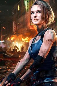 480x800 Jill Valentine Resident Evil 3 4k 2020