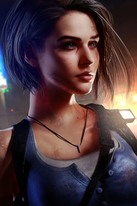Jill Valentine Resident Evil 3 Closeup 4k