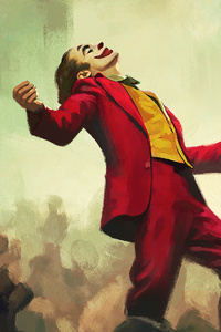 240x400 Joaquin Phoenix Joker Art 4k