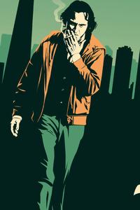 1440x2960 Joaquin Phoenix Smoking Fanart 4k