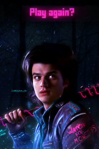 Joe Keery Stranger Things Fan Art 4k