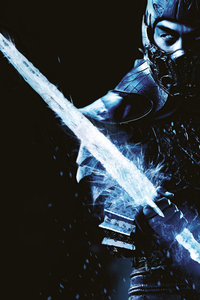Joe Taslim As Sub Zero Mortal Kombat Character Poster 4k