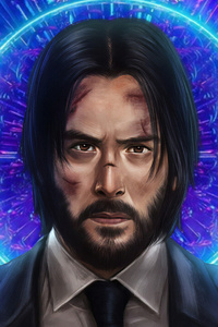 1440x2960 John Wick 3 New Art