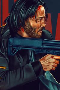 240x320 John Wick 4k Poster