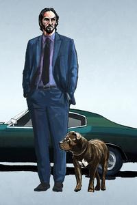 John Wick And Mustang