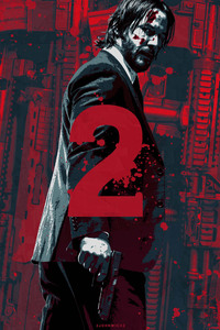 1242x2688 John Wick Chapter 2 2017 Artwork Poster