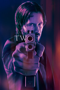 320x480 John Wick Chapter 2 2017 Movie 5k